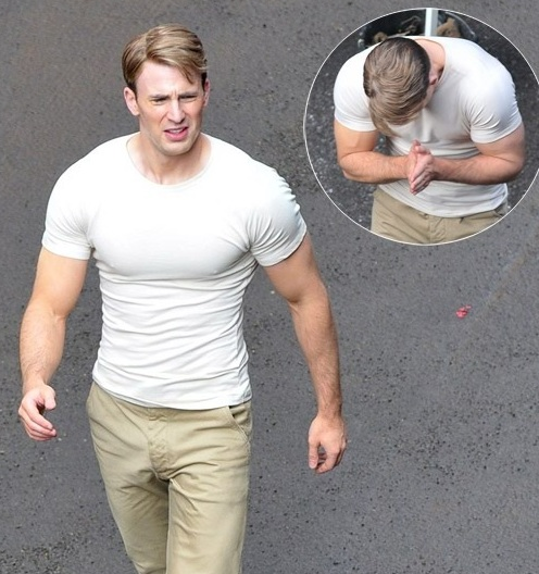 chris evans biceps - Mindtomusclefitness